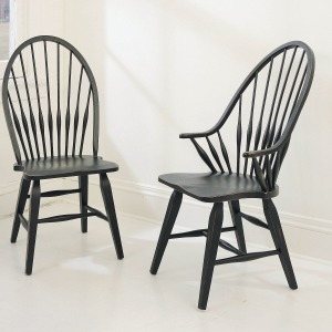 Attic Heirlooms Windsor Arm Chair, Antique Black