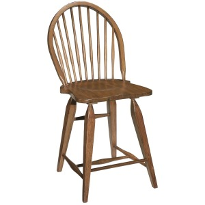 Attic Heirlooms Windsor Counter Stool, Natural Oak Stain