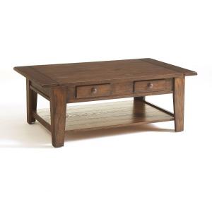 Attic Heirlooms Cocktail Table, Rustic Oak
