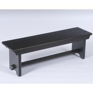 Attic Heirlooms Bench, Antique Black