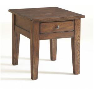 Attic Heirlooms End Table, Rustic Oak