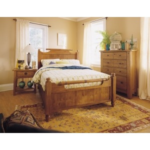 Attic Heirlooms California King-King FEATHER FOOTBOARD / NATURAL OAK STAIN