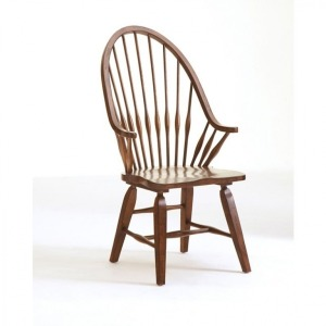 ATTIC HEIRLOOMS WINDSOR ARM CHAIR / NATURAL OAK STAIN