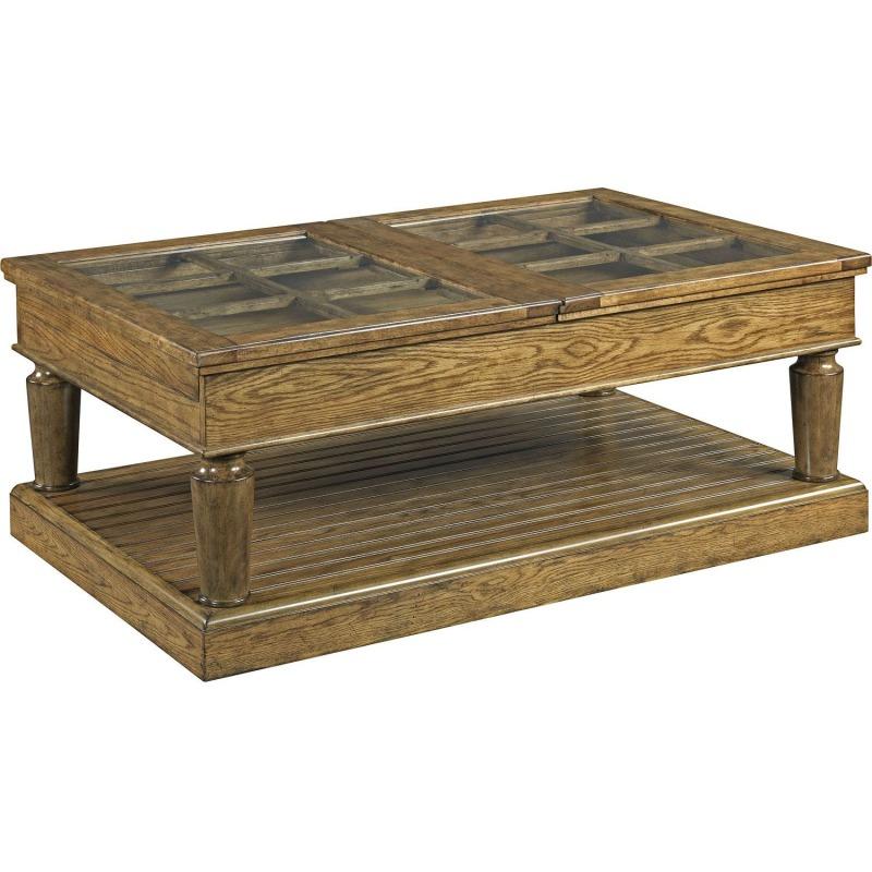 New Vintage™ Window-Pane Cocktail Table, Vintage Brown