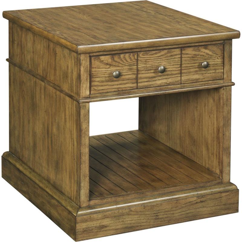 New Vintage™ Drawer End Table, Vintage Brown