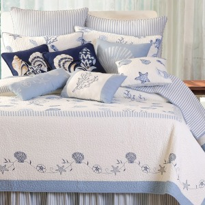 Treasures By The Sea Blue Quilt