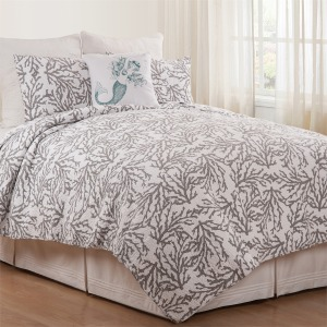 Cora Gray Full/Queen Quilt Set