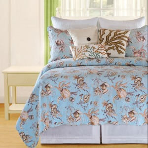 Under The Sea Blue Twin Quilt