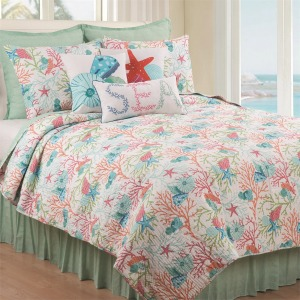 Caribbean Splash Twin Quilt Set
