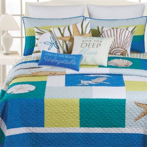 Blue Oasis King Quilt