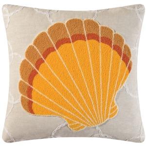Orange Shell Pillow