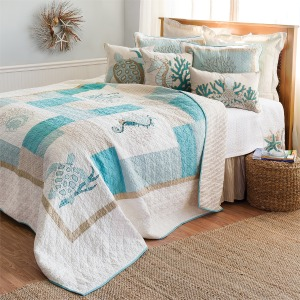 Saltwater Serenity King Quilt