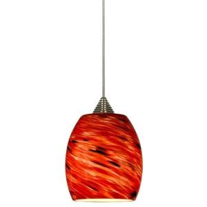 Glass and Metal LED Pendant