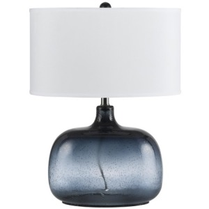 3 Way Christi N/Blue Glass Table Lamp