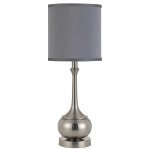 Tapron Brushed Steel Accent Lamp