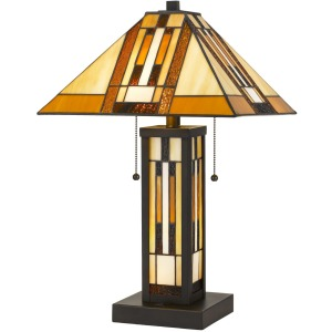 Tiffany Table Lamp with 7W Night Light