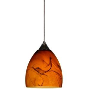 Tall Glass and Metal LED Pendant