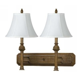 2 Pineapple Fixed Arm Wall Lamp