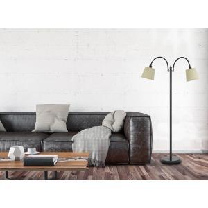 Gail Metal Gooseneck Floor Lamp - Dark Bronze