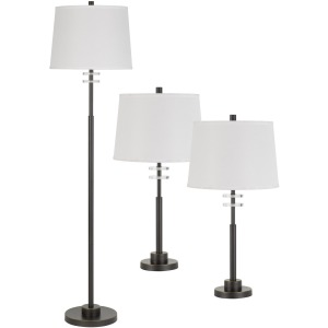 Table & Floor Lamp - Set of 3