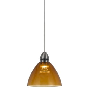 Metal LED Pendant with Brushed Steel Cord