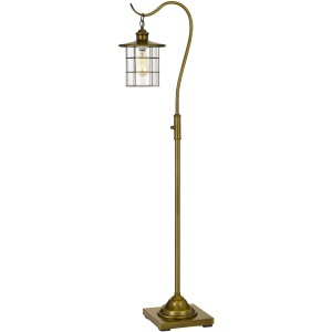 Silverton Desk Lamp with Glass Shade