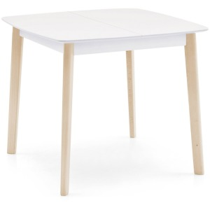 Cream Table Square wooden extending table