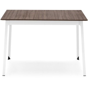 Dot Square wood and metal table