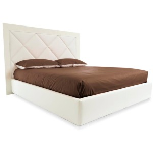 Diamond Fully upholstered bed: queen size