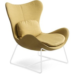 Lazy PU foam design armchair with metal base