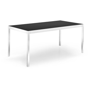 Happy Glass and metal extending table
