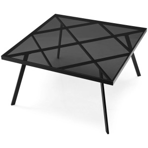 Frame Square metal and glass table