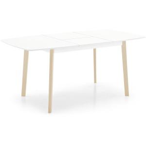 Cream Table Rectangular wood extending table