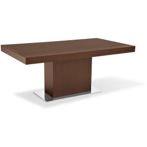 Park Rectangular table, pedestal base