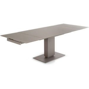 Echo Extending table, pedestal base
