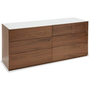 City Drawer dresser with glass top