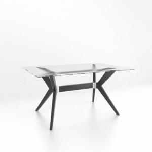 Downtown Glass Top Table