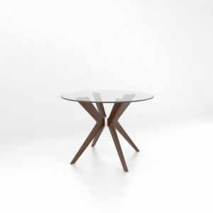 Downtown Glass Top Round Table
