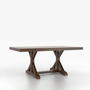 Loft Wood Top Rectangular Table