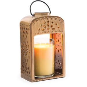 Pierced Ceramic Lantern