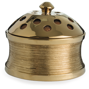 Brushed Gold Candle Aire