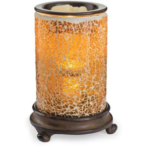 Crackled Amber Glass Illumination