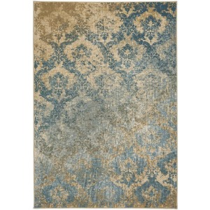 Caravan-Adriatic Tuscan Blue Machine Woven Rug