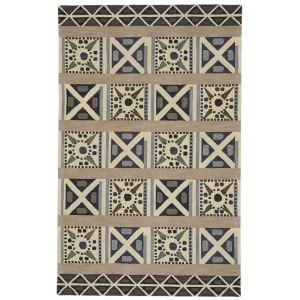Clayton Greige Rectangle Rug - 5' x 8'