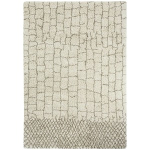 Tangier Stone Machine Woven Rug -Brown