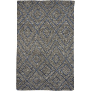 Kasbah-Jewel Graphite Hand Knotted Rug - 5' x 8'