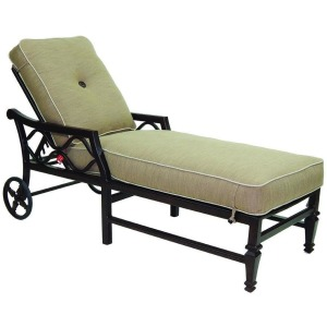 Adjustable Cushioned Chaise Lounge