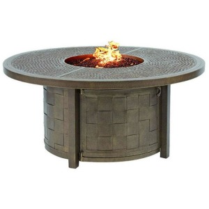 Tables 49\'\' Round Coffee Table With Firepit