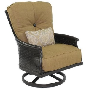 High Back Cushioned Lounge Swivel Rocker