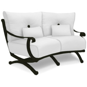 Crescent Loveseat With/Two Kidney Pillows